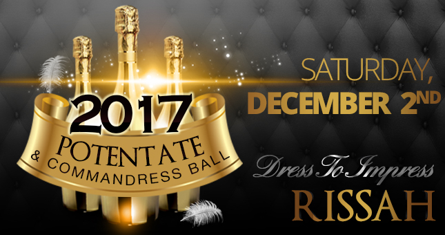 2017 Rissah Potentate and Commandress Ball